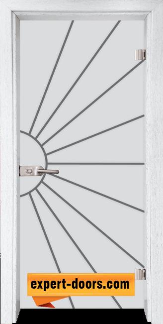 Стъклена интериорна врата Gravur G 13 2 Y 1