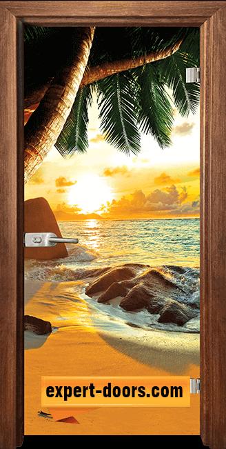 Стъклена интериорна врата Print G 13 14 Z 1