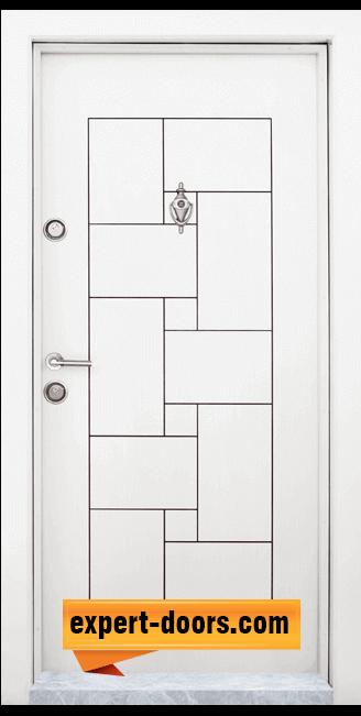 Блиндирана входна врата модел T 100 W 2
